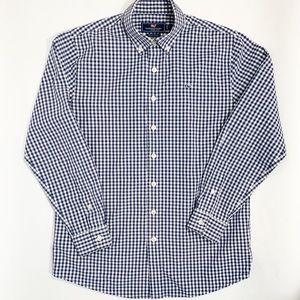 VINEYARD VINES Blue Checked Whale Shirt